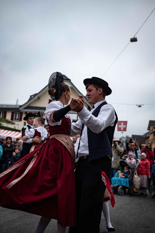 Danses traditionnelles lors de la Désalpes à Entlebuch