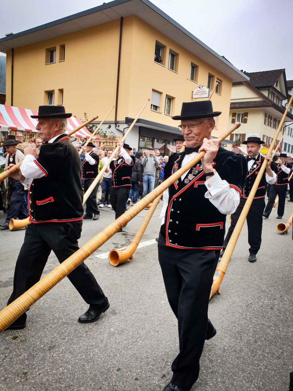 joueurs de cor des Alpes lors de la désalpes de Entlebuch