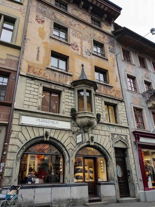 Façades anciennes de Lucerne