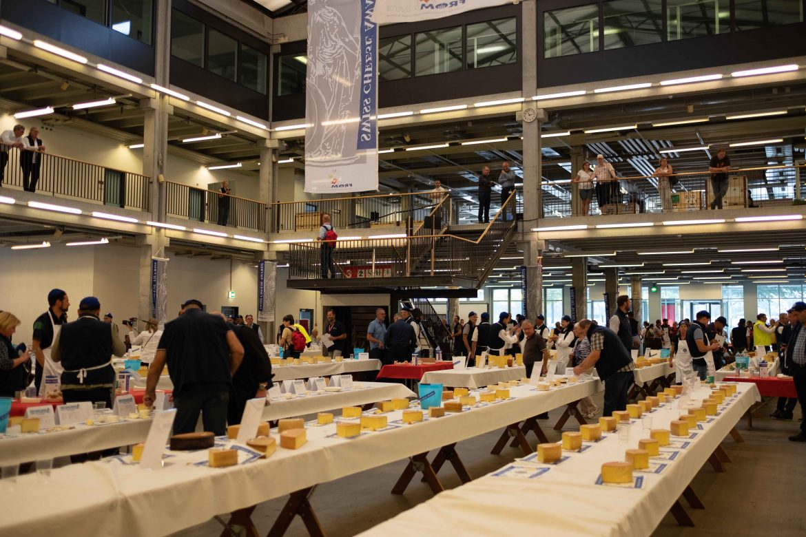 Le grand hall où se passait la compétition du Swiss CheeseAwards 2018