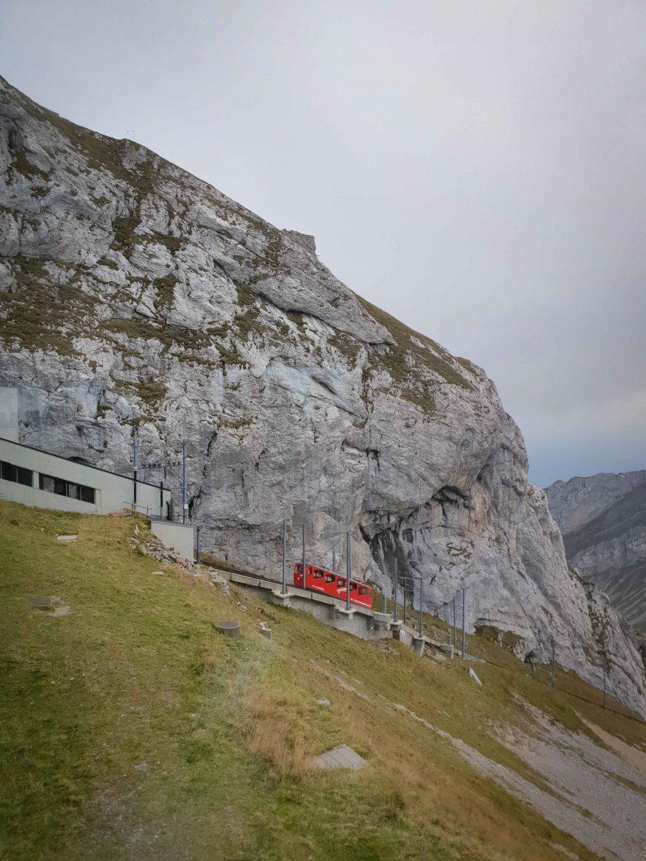 Train à crémaillère au Mont Pilatus
