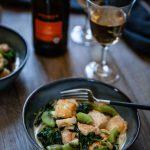 Sauté de poulet aux épinards et aux kiwi, recette facile