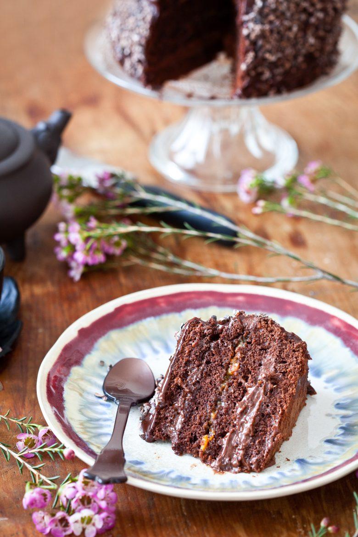 Layer cake au chocolat et au grué de cacao, recette facile