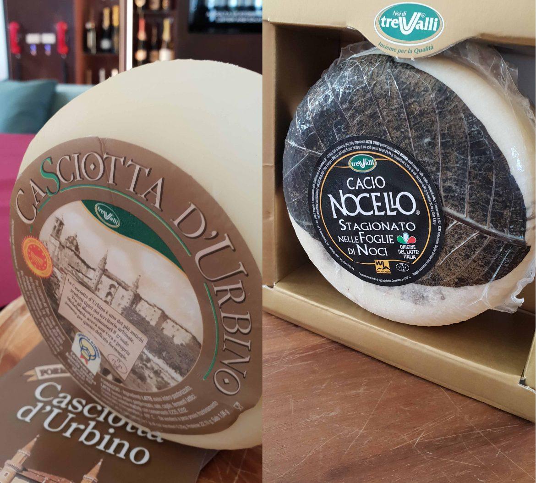 Fromages italiens des Marches: Casciotta d'Urbino DOP et Cacio Nocello