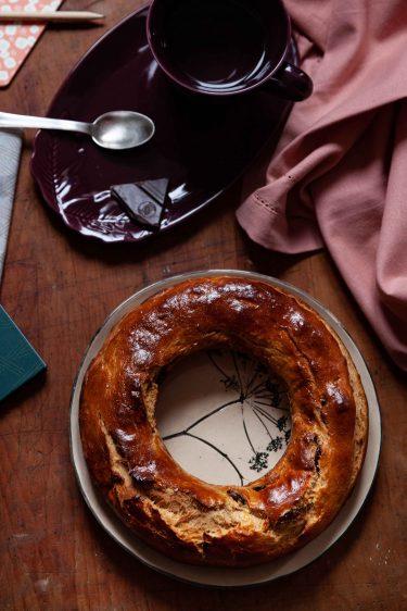 La recette de ma couronne briochée ou brioche aux cranberries