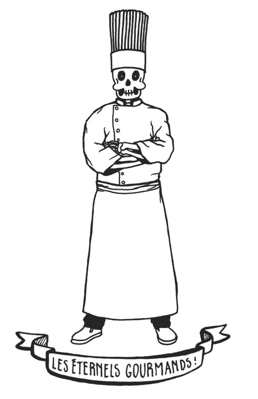 Le personnage Ernest Grandfaim de Julie Chauville  pour le livre Balade Funéraire Gourmande