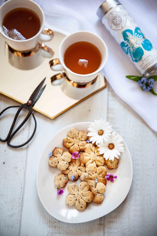 Ma recette de biscuits au thé bleu à base de Sakura Blue tea de chez Mariage Frères