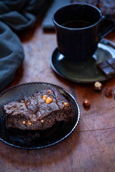 Ma rectette de gâteau moelleux fondant au chocolat et aux noisettes