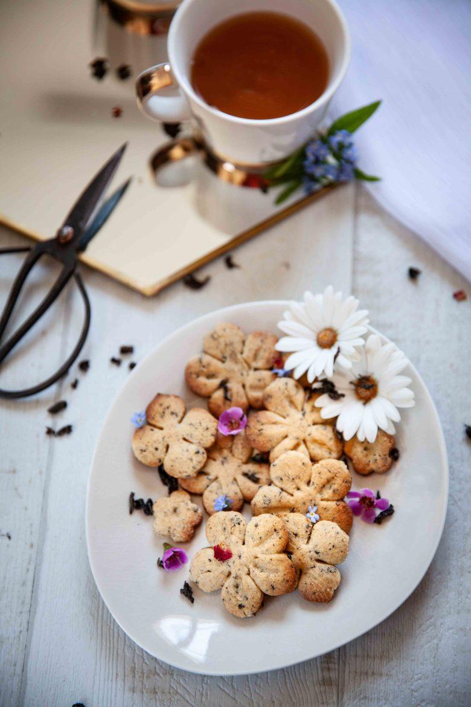 Ma recette de biscuits au thé bleu Sakura ou Sakura Blue® de Mariage Frères