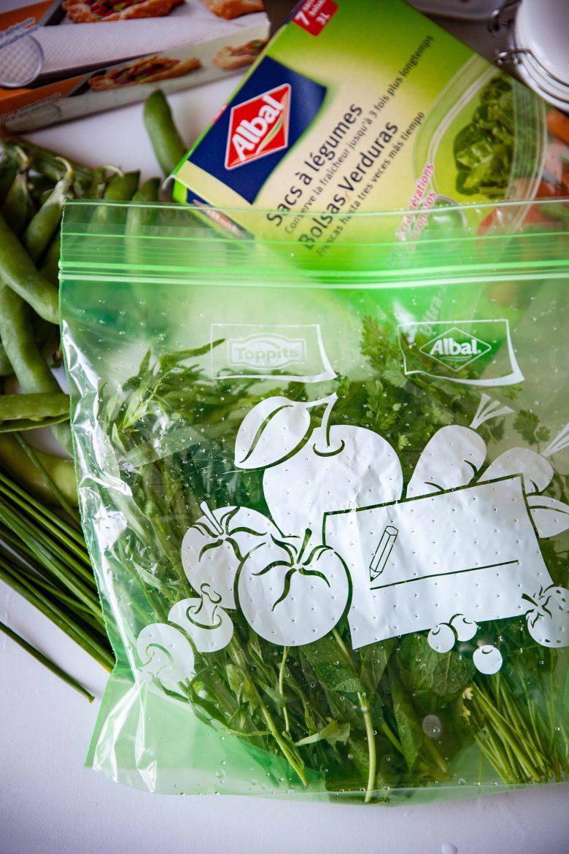 Sac de conservation pour légumes d'Albal