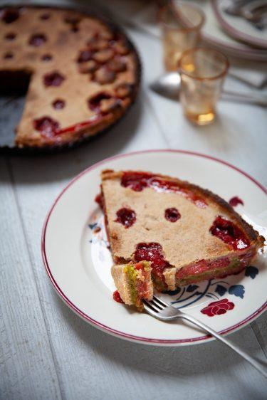Recette de tarte campagnarde aux fraises et à la pistache