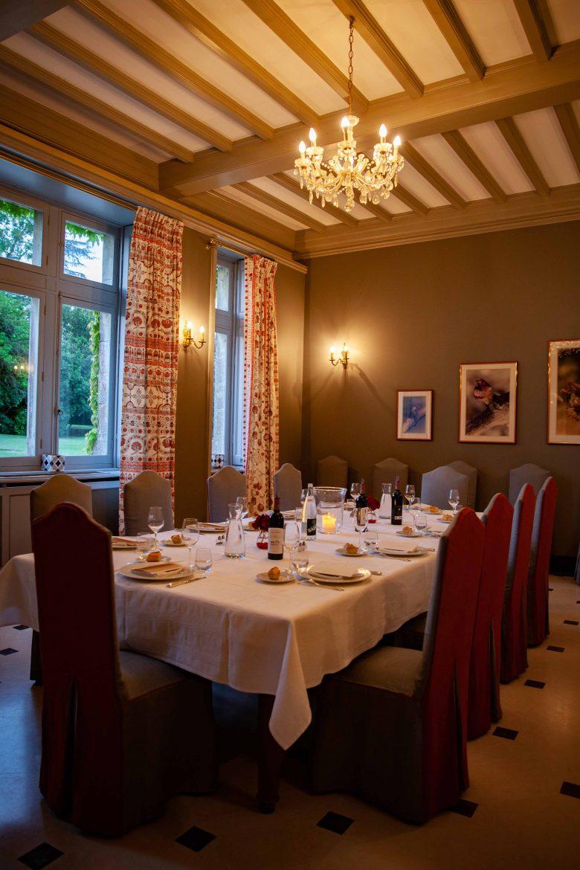 La salle à manger du Château Lascombes
