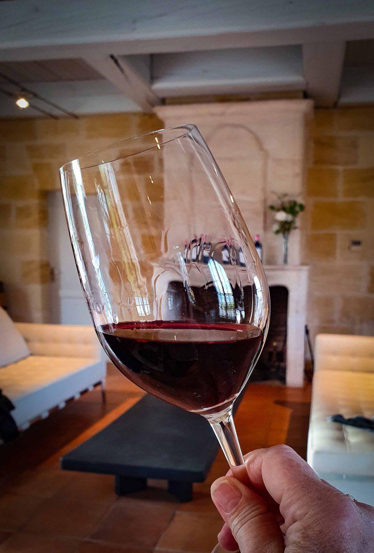 Vin du Château Marquis de Terme et salon de la salle du Parc