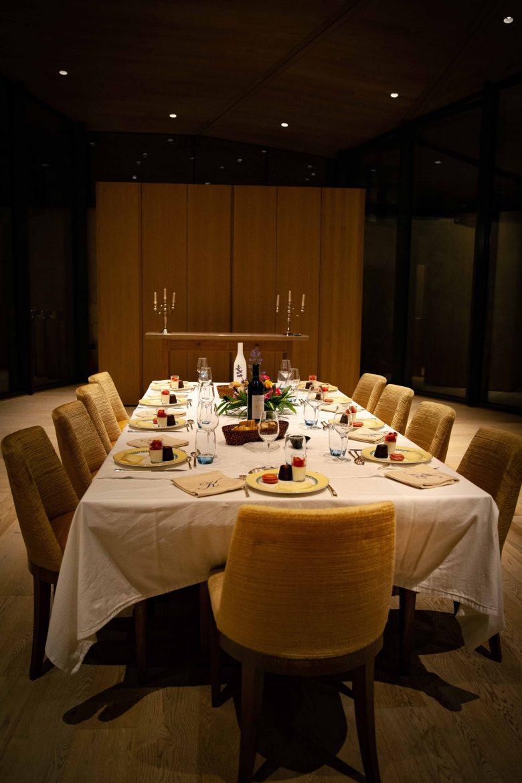 Salle à manger du Château Kirwan