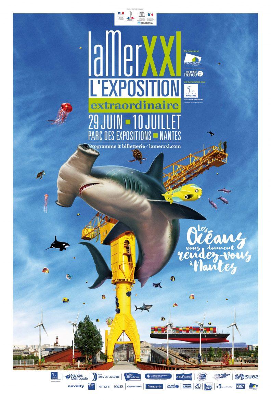 L'affiche de l'exposition de Nantes, La Mer XXL 2019