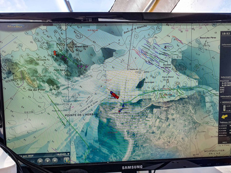 Carte marine et zones de pêche