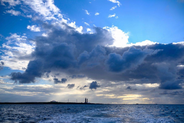 L'Île du Pilier au large de Noirmoutier au crépuscule