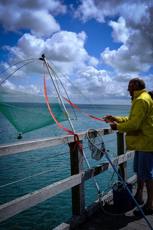 Pêcheur au carrelet à Noirmoutier