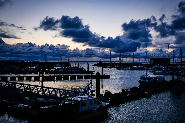 Port de l'Herbaudière à Noirmoutier à l'aube