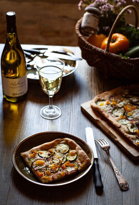 ma recette de pizza blanche aux courgettes et au zaatar