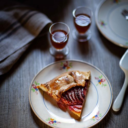 Ma tarte aux pêches rustique et fleur d'oranger