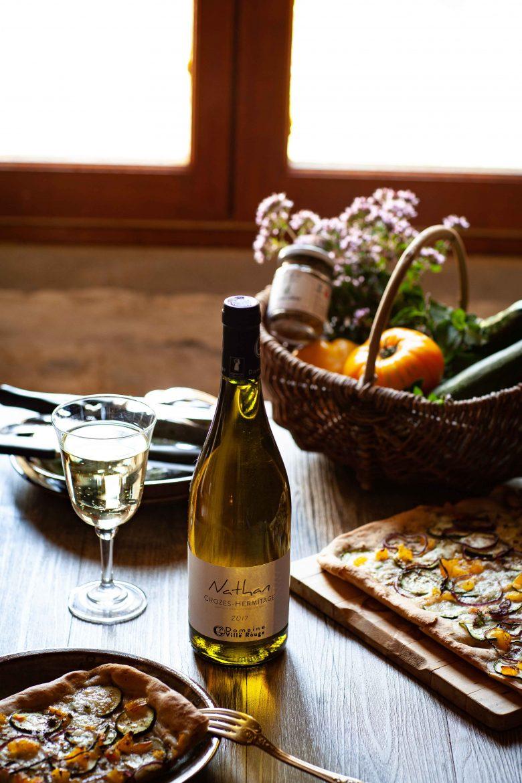 Cuvée Nathan vin blanc AOP Crozes Hermitage du Domaine de la Ville Rouge