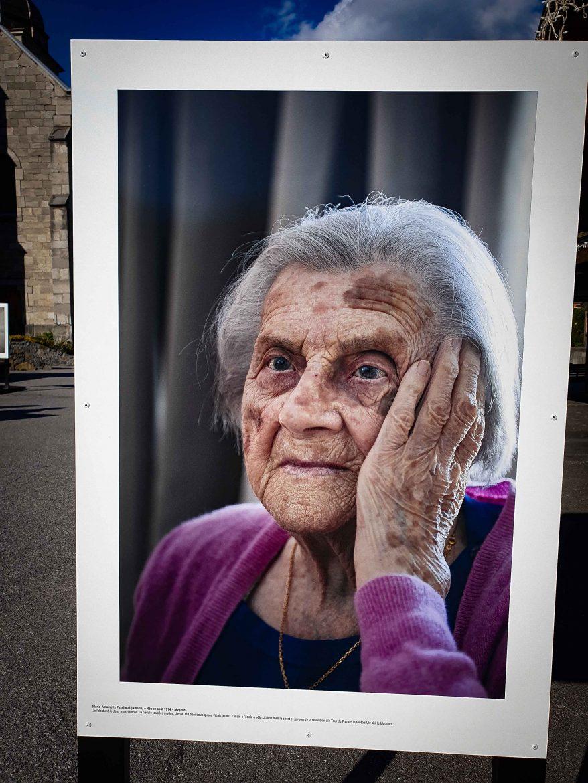 L'une des centenaires de l'exposition Pochat & Fils Avoir 100 ans en Savoie