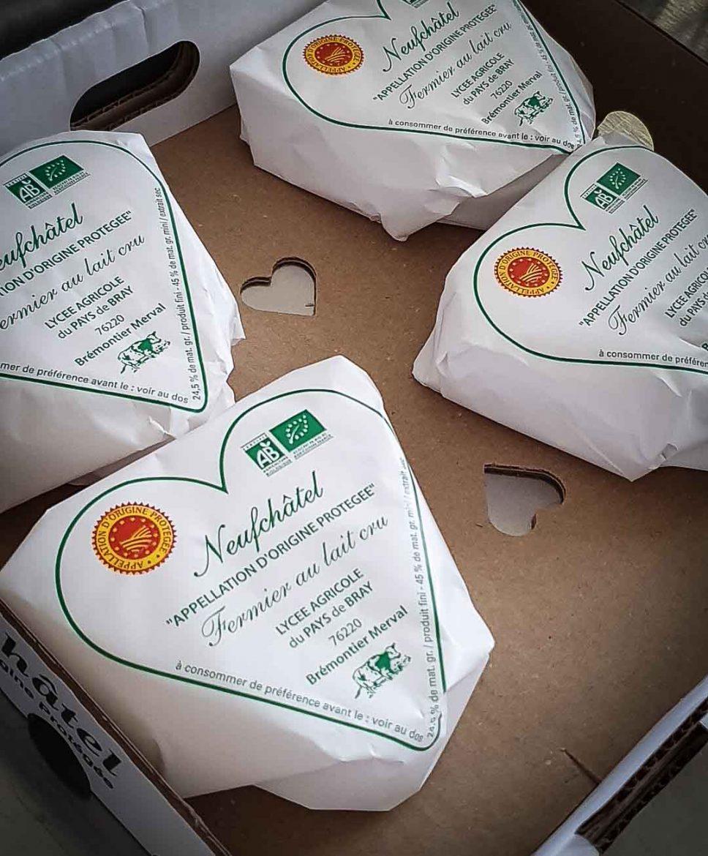 Fromages Neufchâtel de Bremontier-Merval sur la Route des Fromages de Normandie