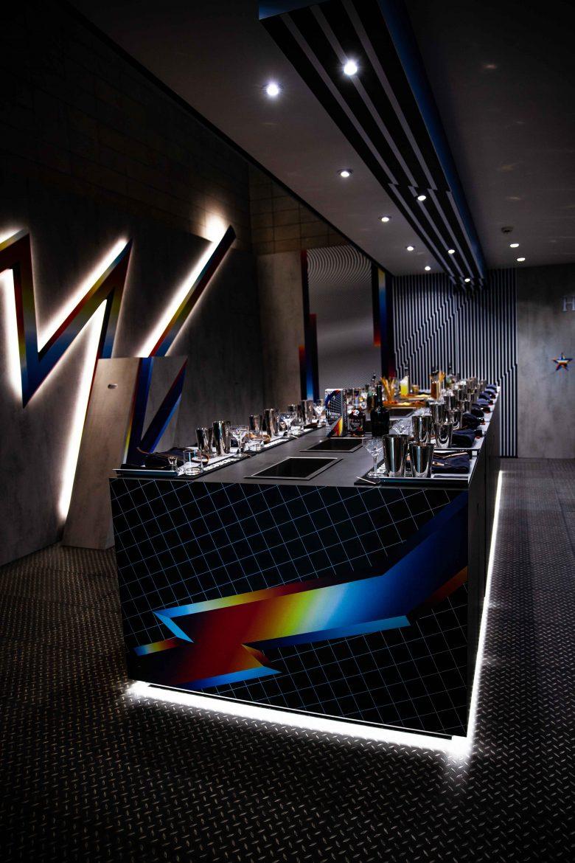 La salle d'atelier cocktail décorée par Pantone, Hennessy