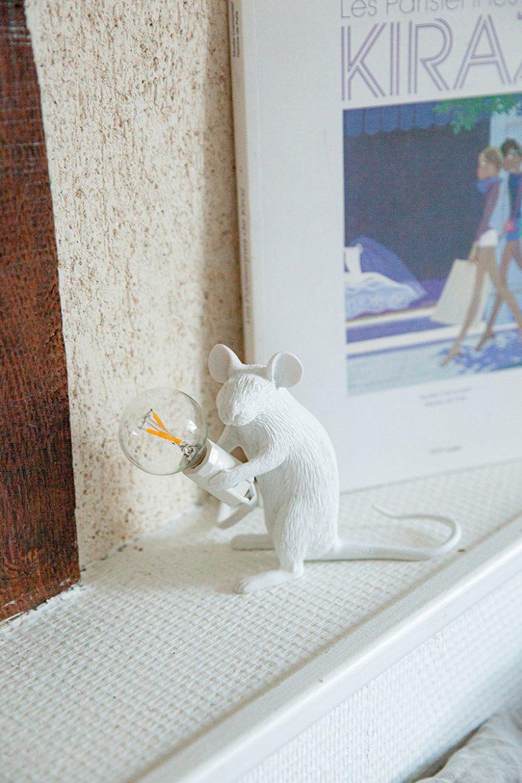 Décoration chambre Alice avec la petite souris lampe de Seletti