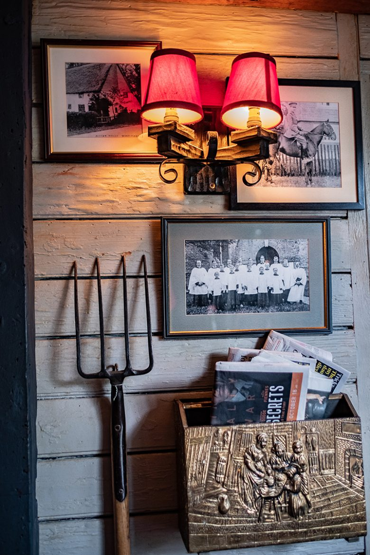 La déco très farmers du Woolpack Inn de Warehorn