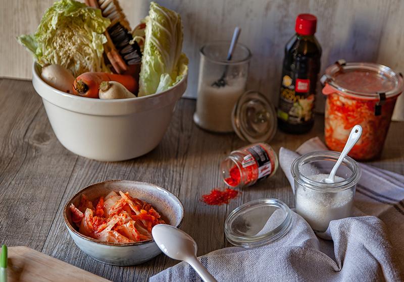 Ma recette végétalienne de kimchi, la fermentation du chou chinois au piment