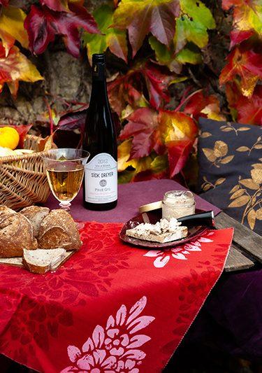 Recette de pain au levain farine T80 aux graines, terrine de canard et vin d'Alsace