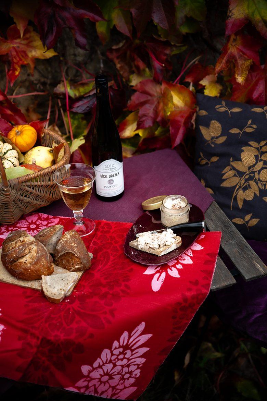 Effiloché de canard confit et foie gras de canard Montfort, vin d'Alsace Pinot Gris 2012 Sick Dreyer