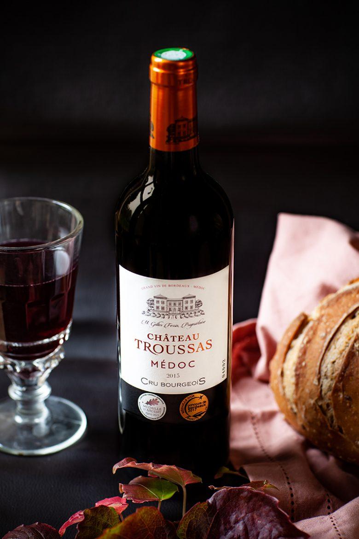 Vin rouge Château de Troussas, Bordeaux rouge du Médoc