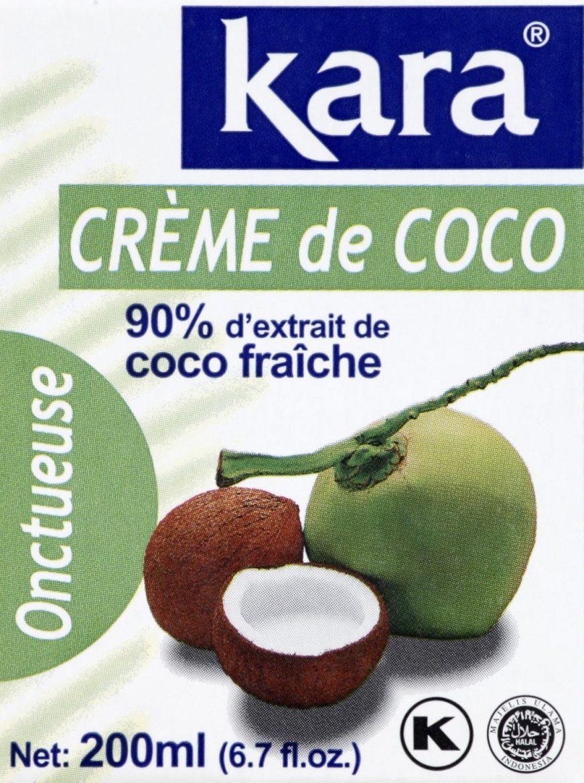 Visuel de la crème de coco 90% extrait coco frâiche de Kara