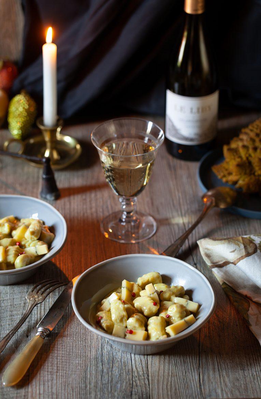 recette végétarienne de gnocchi au chou romanesco et à la crème de morbier