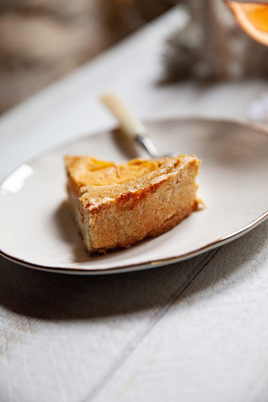Pâte à l'huile d'olive et à l'anis vert pour la recette de la tarte au kaki