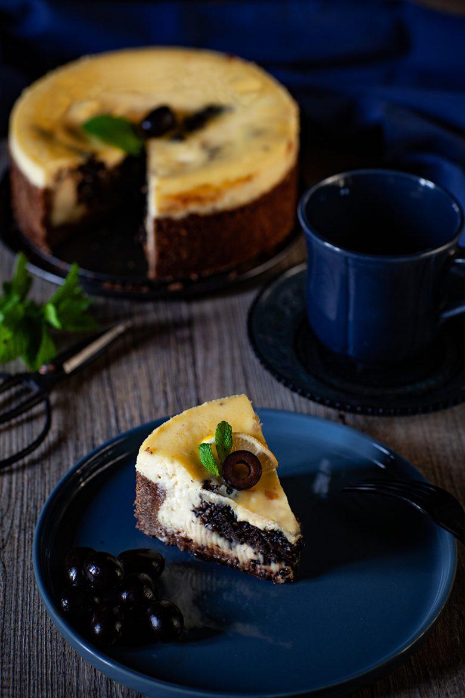 Ma recette étonnante de cheesecake au citron vert et olives noires d'Espagne Hojiblanca
