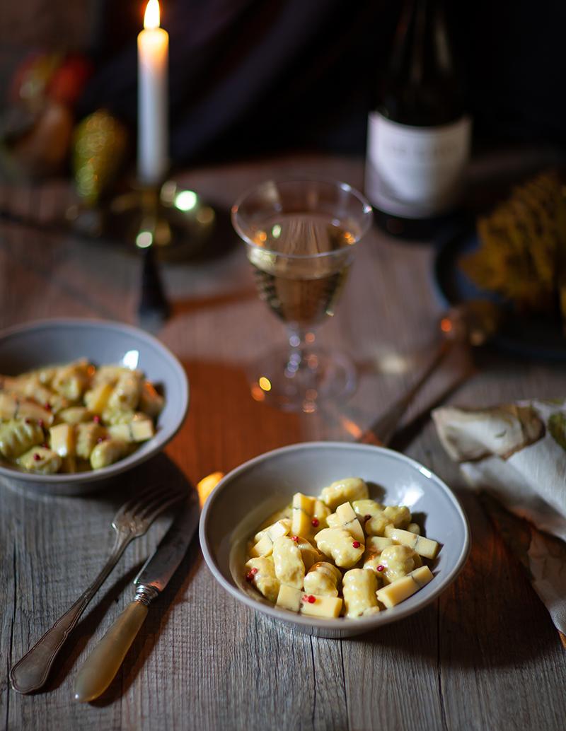 Gnocchi aux légumes verts et crème de fromage