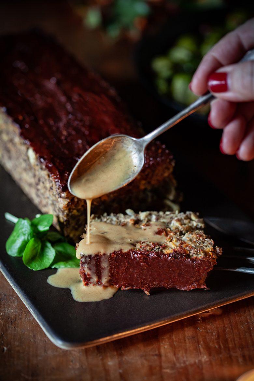 recette de sauce barbecue pour le pain de lentilles ou vegan meatloaf