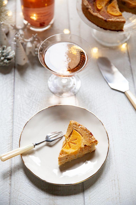 recette de tarte au kaki et à l'anis vert