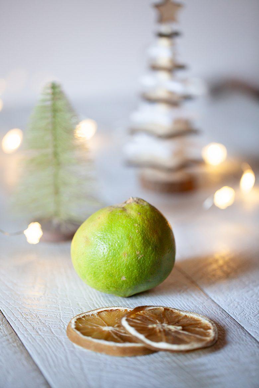 La bergamote véritable, citrus bergamia et ses rondelles séchées au four