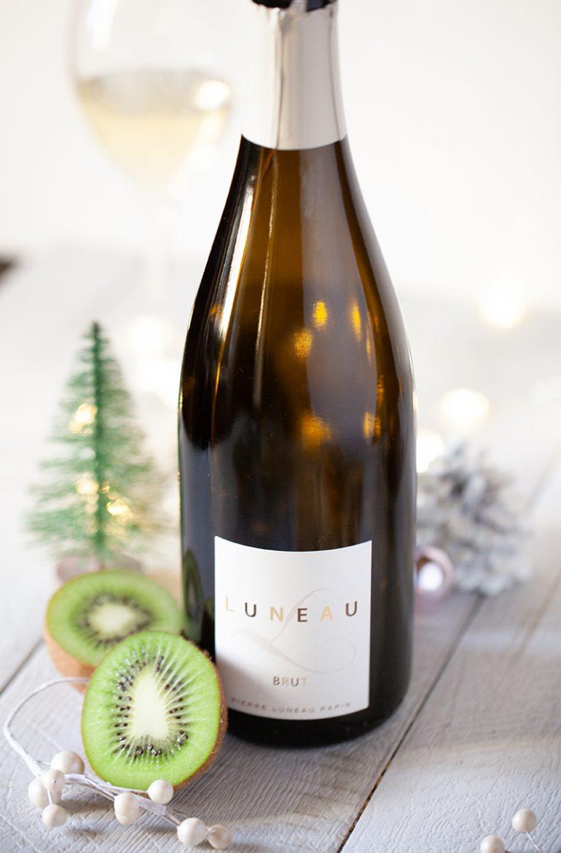 Bouteille de vin effervescent méthode traditionnelle L brut du Domaine Luneau Papin en Muscadet