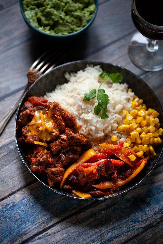 Plat de chili con carne façon San Antonio, la recette