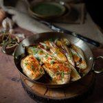 Recette d'escalopes de poulet à l'ail et au citron et endoves braisées au sirop d'érable