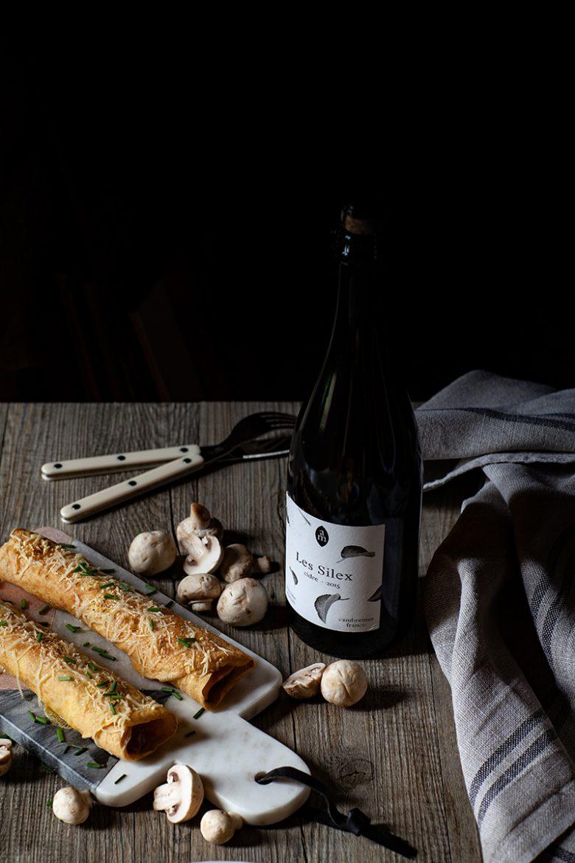 Ficelle Picarde et cidre brut de Cambremer, la recette des ficelles picardes, crêpes fourrée au jambon et aux champignons à la crème