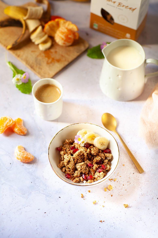 Céréales de petit déjeuner Nümornong ou granola nature artisanal