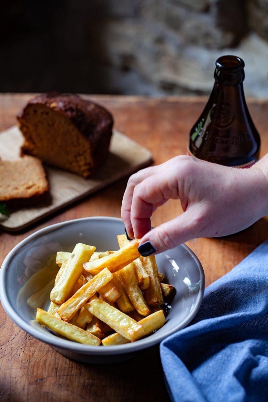 frites maison au four pour accompagner la carbonade