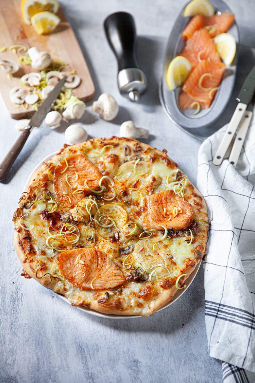 Recette facile de pizza au saumon